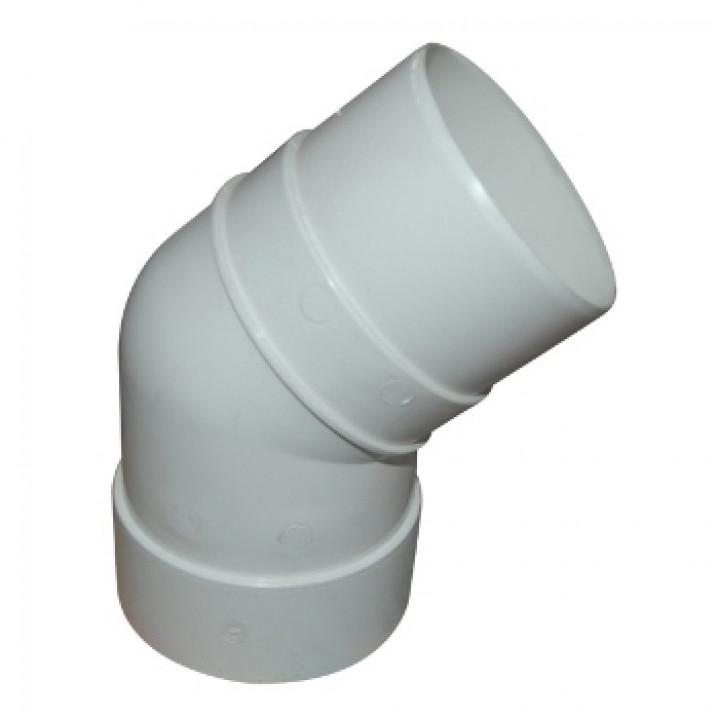 Колено трубы 45гр. пломбир Дёке