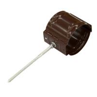 Держатель трубы D90 на кирпич (8017-0,5) шоколад