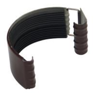 Соединитель желоба 125х0,5 мм шоколад (RAL 8017)