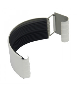 Соединитель желоба 125х0,5 мм белый (RAL 9010)