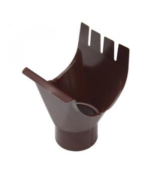 Воронка выпускная D125/90 мм (RAL 8017-0,5) шоколад