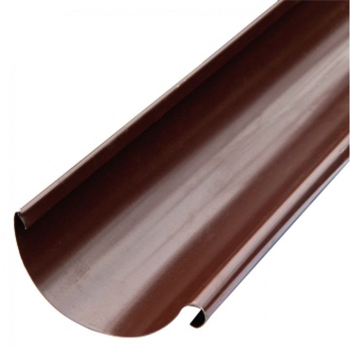 Желоб водосточный 125х3000 мм шоколад (RAL 8017)