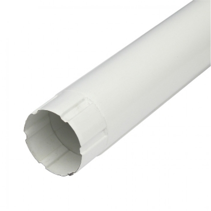 Труба водосточная 90х3000х0,5 мм белый (RAL9010)