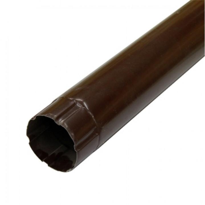 Труба соединительная 90х1000х0,5 мм шоколад (RAL 8017)