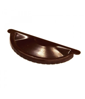 Заглушка желоба 125х0,5 мм шоколад (RAL 8017)