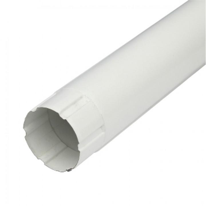 Труба соединительная 90х1000х0,5 мм белый (RAL 9010)