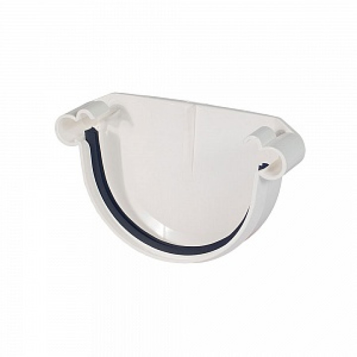 Заглушка желоба 125х0,5 мм белый (RAL 9010)