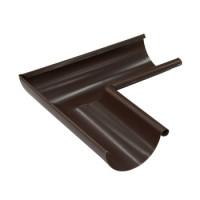 Угол желоба внутренний 125х0,5 мм 90гр. шоколад (8017)