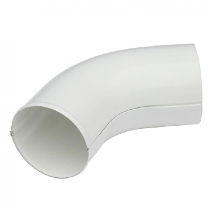 Колено сливное 90х0,5 мм 60 гр. Белый (RAL 9010)