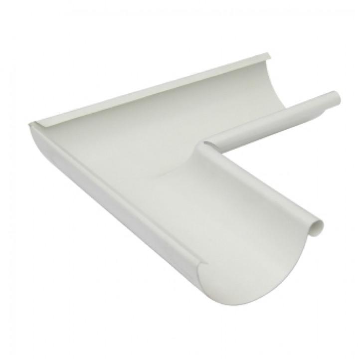 Угол желоба внутренний 125х0,5 мм 90гр. белый (RAL 9010)