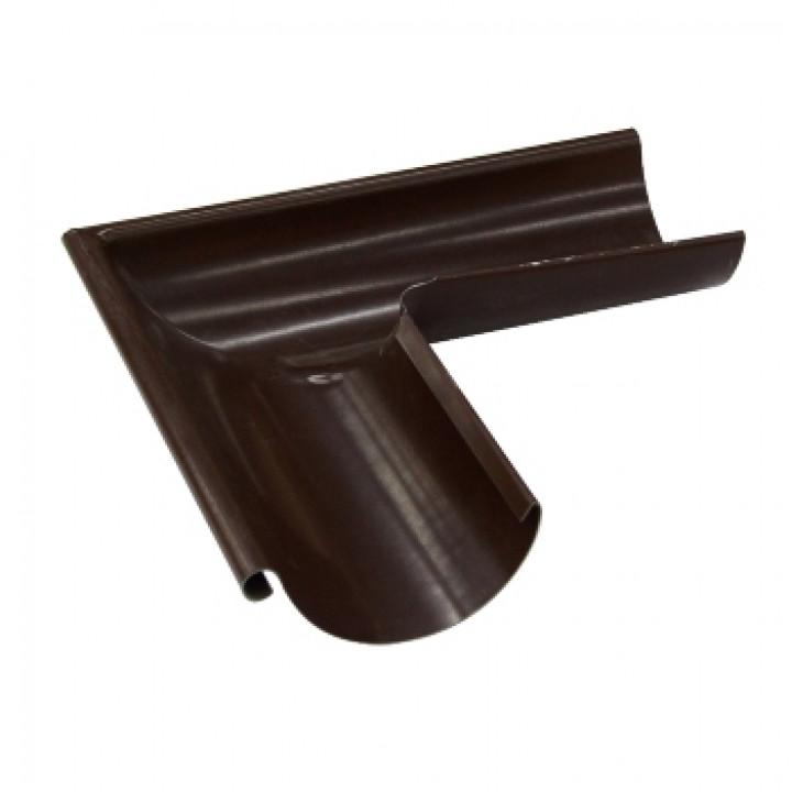 Угол желоба наружный 125х0,5 мм 90гр. Шоколад (RAL 8017)