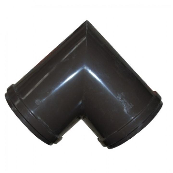 Угловой элемент желоба 90гр. шоколад Дёке