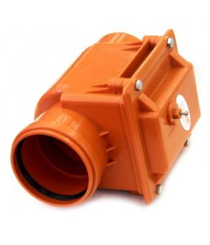 Клапан обратный 110 мм канализационный