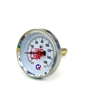"""Термометр биметаллический аксиальный D63мм, L46мм, G1/2"""", 0-160°С, БТ 31.211 КТ2.5"""