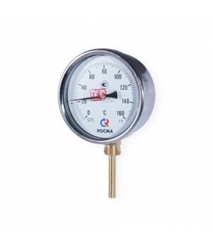 """Термометр биметаллический радиальный D63мм, L46мм, G1/2"""", 0-160°С, БТ 32.211 КТ2.5"""
