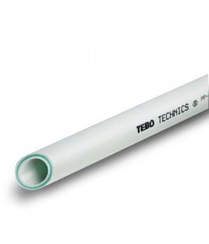 Труба пп 25х3,5 мм, 2м, SDR7,4 армированная стекловолокном, PN20 TEBO