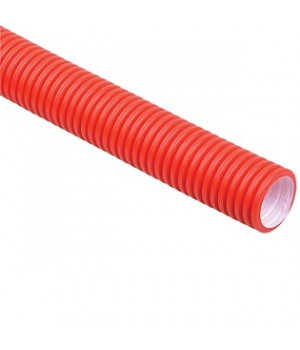 Труба гофрированная цветная 25 мм (на 16-ю трубу, красная)