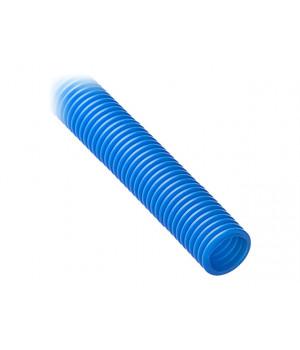 Труба гофрированная цветная d=25 (на 16-ю трубу, синяя)