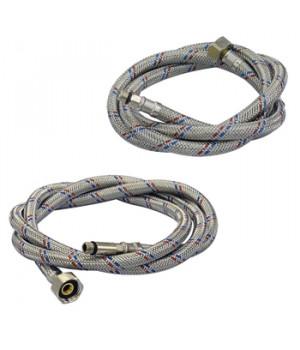 Гибкая проводка для смесителя 100 см. (2 шт.) cтальная оплетка AQualine