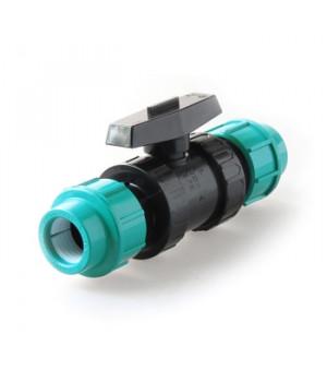 Кран шаровой пэ 25 мм компрессионный PN16
